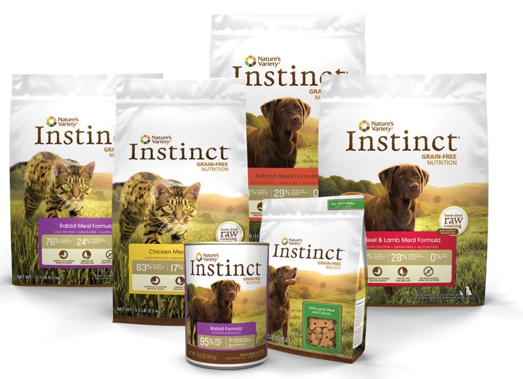 INSTINCT - Un alimento libre de granos que sólo utiliza carne como fuente de proteína.